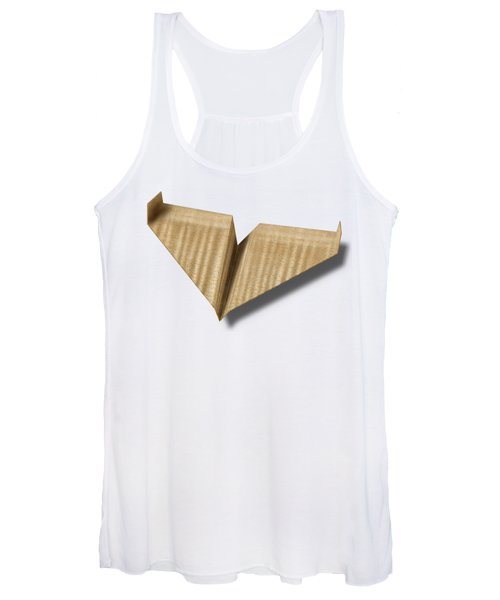 Paper Airplanes Of Wood 8 Women's Tank Top