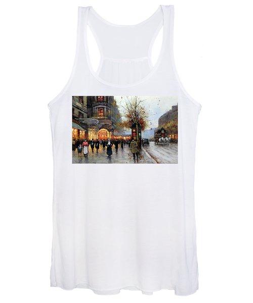 Paris Street Scene Women's Tank Top