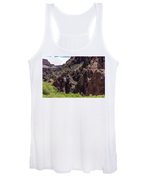 Park Service Helicopter In The Grand Canyon  Women's Tank Top