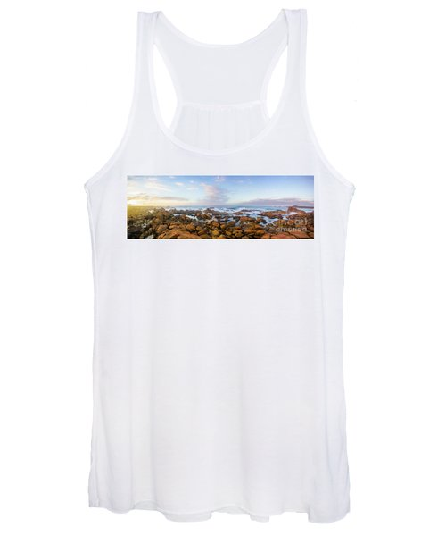 Pastel Tone Seaside Sunrise Women's Tank Top