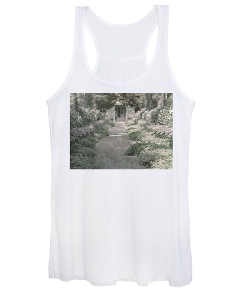 Path In Monet's Garden At Giverny Women's Tank Top