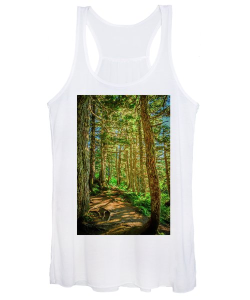 Path In The Trees Women's Tank Top