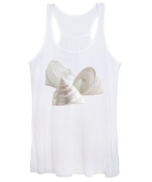 Pearl Troca Shells On White Women's Tank Top