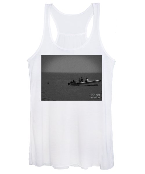 Pelican And The Fishing Boat Women's Tank Top