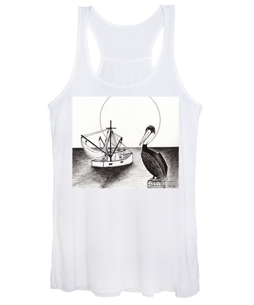 Pelican Fishing Paradise C1 Women's Tank Top