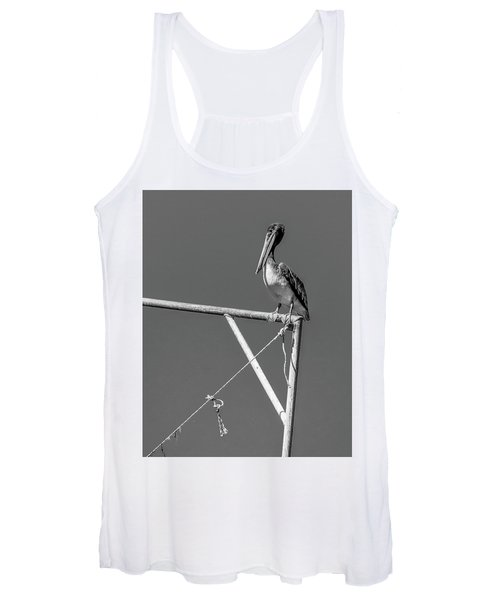 Pelican In Black And White Women's Tank Top