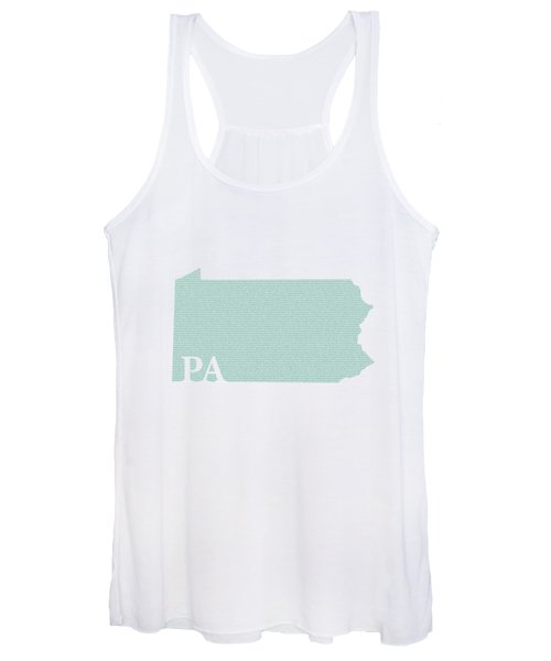 Pennsylvania State Map With Text Of Constitution Women's Tank Top
