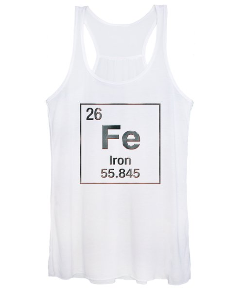 Periodic Table Of Elements - Iron Fe Women's Tank Top
