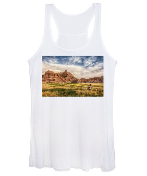 Photographer Waiting For The Badlands Light Women's Tank Top