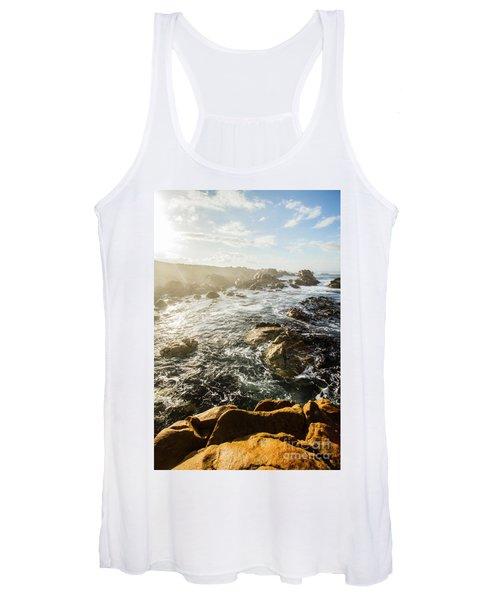 Picturesque Australian Beach Landscape Women's Tank Top