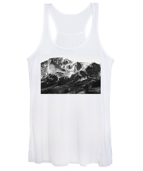 Pikes Peak Black And White In Wintertime Women's Tank Top