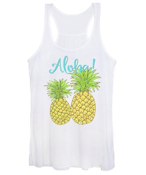 Pineapple Aloha Tropical Fruit Of Welcome Hawaii Women's Tank Top