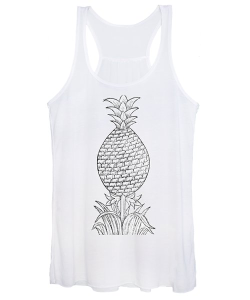 Pineapple Illustration From De La Natural Hystoria De Las Indias Women's Tank Top