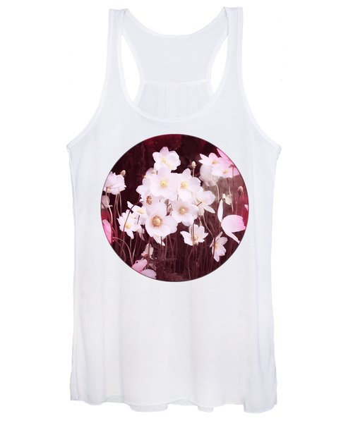 Pink And White Anemones Women's Tank Top