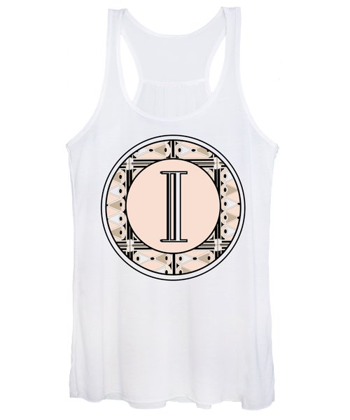 Pink Champagne Deco Monogram  I Women's Tank Top