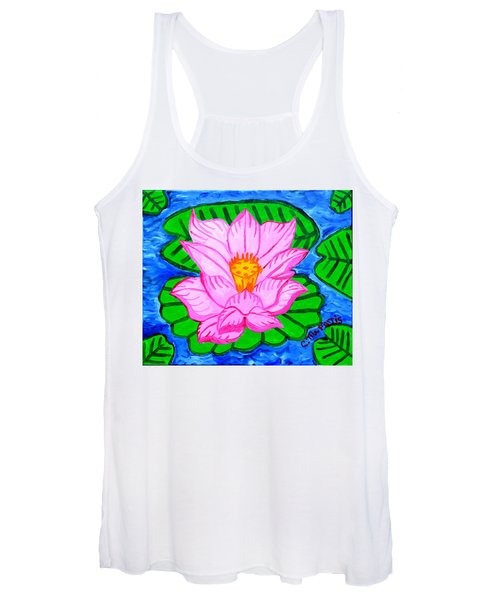 Pink Lotus Flower Women's Tank Top