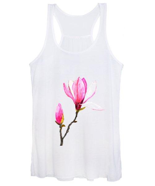 Pink Magnolia Women's Tank Top