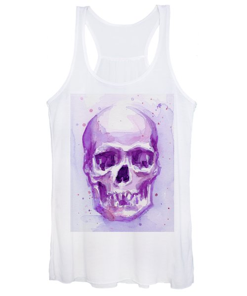Pink Purple Skull Women's Tank Top