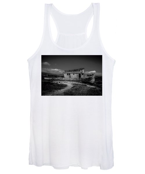 Point Reyes Black And White Women's Tank Top