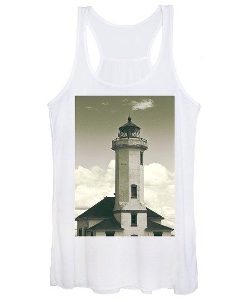 Point Wilson Lighthouse Sepia Women's Tank Top