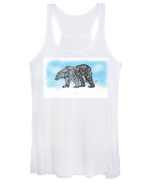 Polar Bear Doodle Women's Tank Top