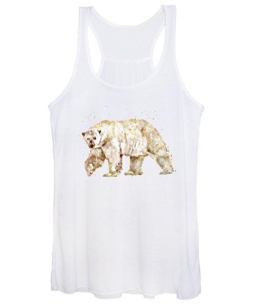 Polar Bear Watercolor Women's Tank Top