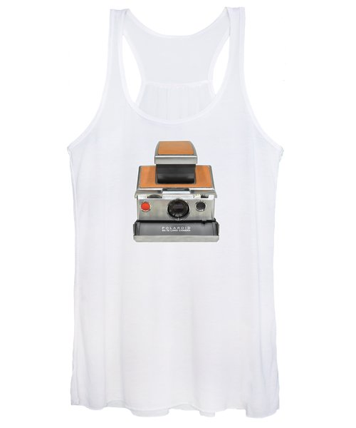 Polaroid Sx70 On White Women's Tank Top