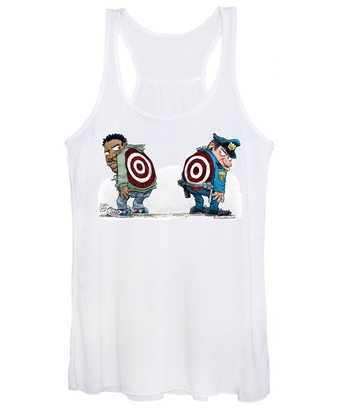 Police And Black Folks Are Targets Women's Tank Top