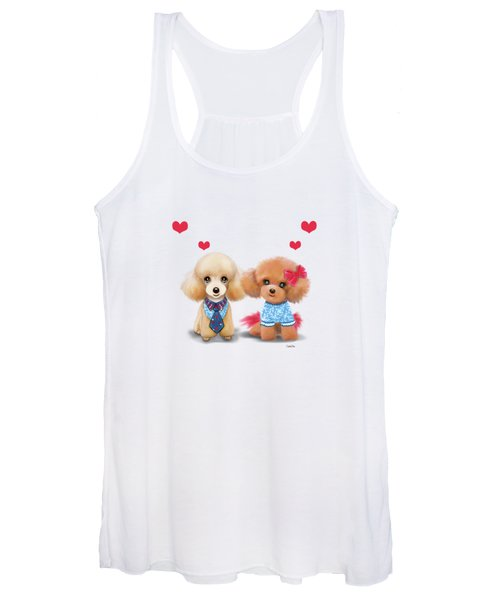 Poodles Are Love Women's Tank Top