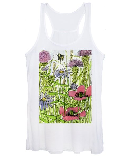 Poppies And Wildflowers Women's Tank Top