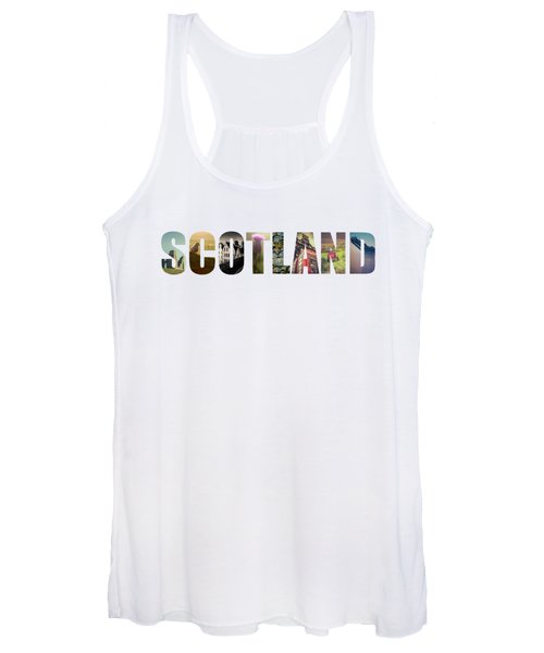 Postcard For Scotland Women's Tank Top