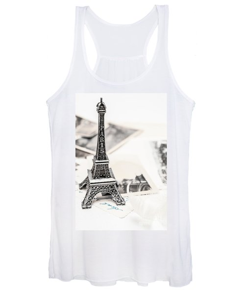 Postcards And Letters From Paris Women's Tank Top