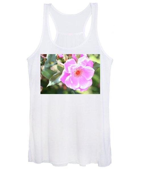 Pretty Pink Rose Women's Tank Top