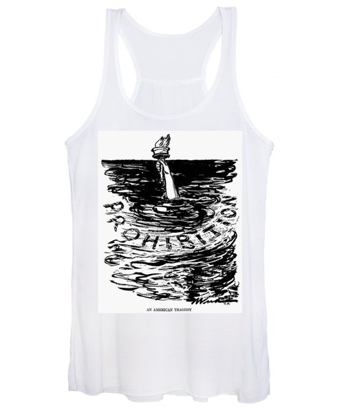 Prohibition Cartoon, 1920s - To License For Professional Use Visit Granger.com Women's Tank Top