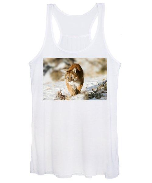 Prowling Mountain Lion Women's Tank Top