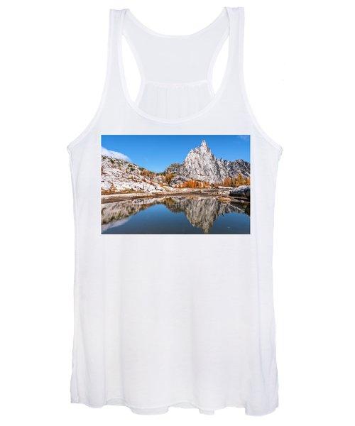 Prusik Peak Reflected In Gnome Tarn Women's Tank Top