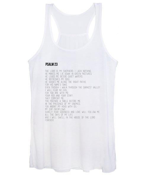 Psalm 23 #minimalist Women's Tank Top