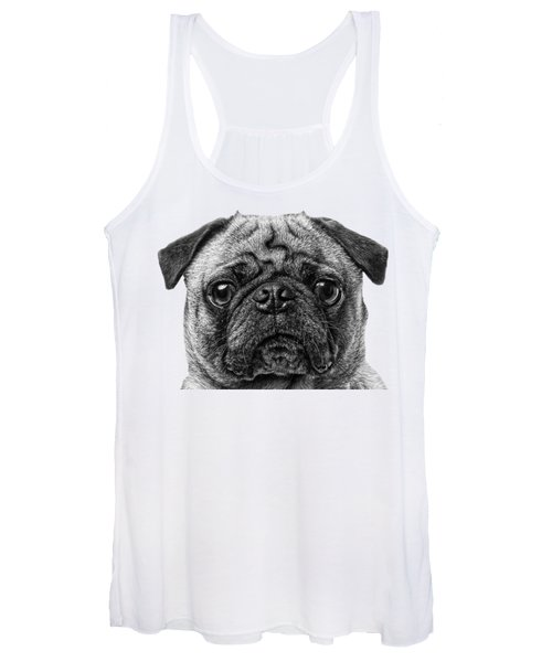 Pug T-shirt Women's Tank Top