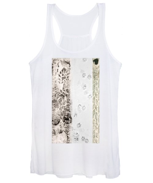 Puppy Prints In The Snow Women's Tank Top