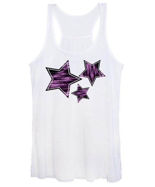Purple Lightening Women's Tank Top