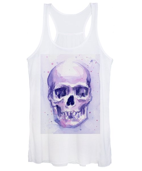 Purple Skull Women's Tank Top