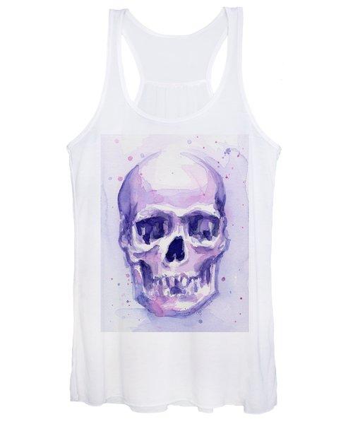 Purple Skull Women's Tank Top