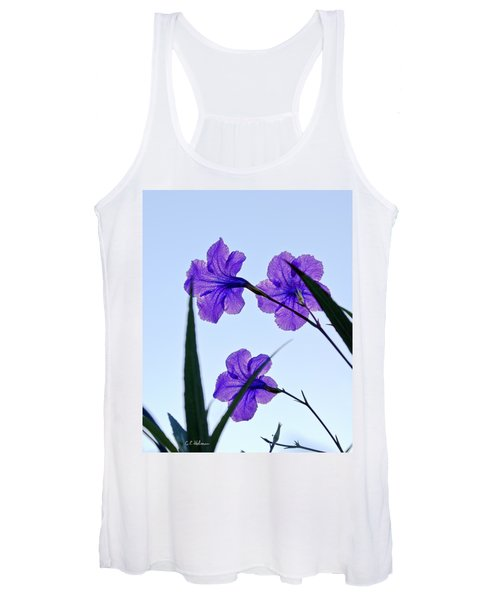 Purple Trio Women's Tank Top