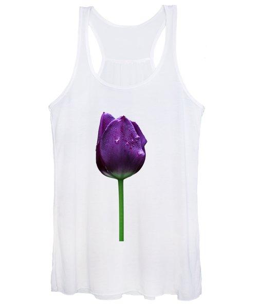 Purple Tulip T Women's Tank Top