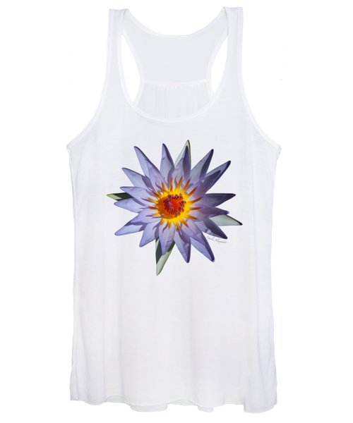 Purple Water Lily Transparent Women's Tank Top