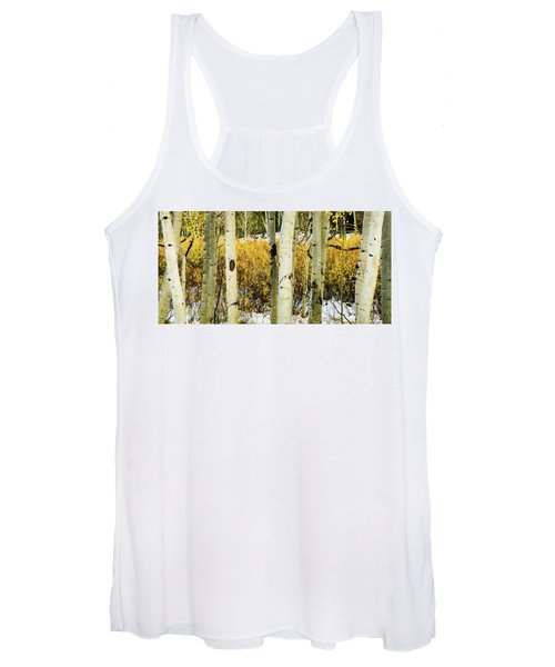 Quakies And Willows In Autumn Women's Tank Top
