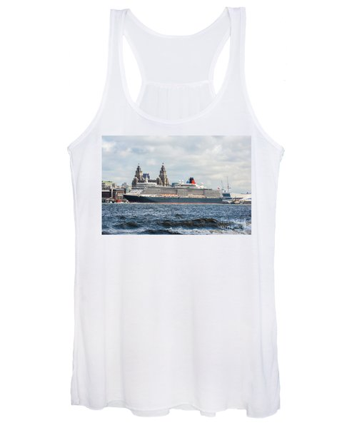 Queen Elizabeth Cruise Ship At Liverpool Women's Tank Top