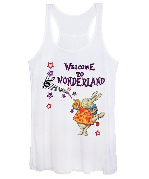 Rabbit Welcome To .. Alice In Wonderland Women's Tank Top