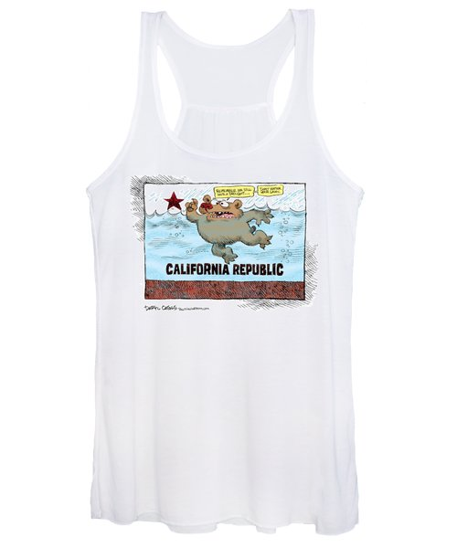 Rain And Drought In California Women's Tank Top