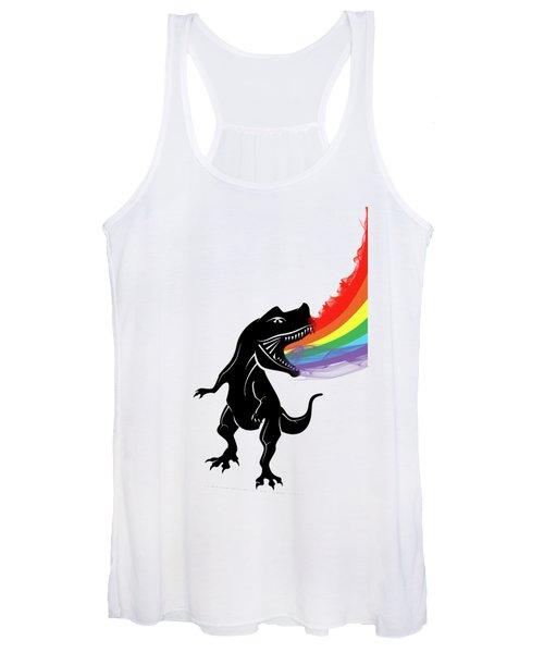 Rainbow Dinosaur Women's Tank Top